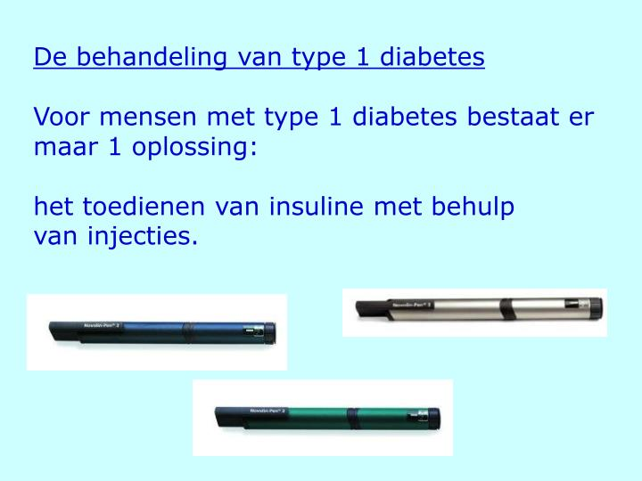 De behandeling van type 1 diabetes