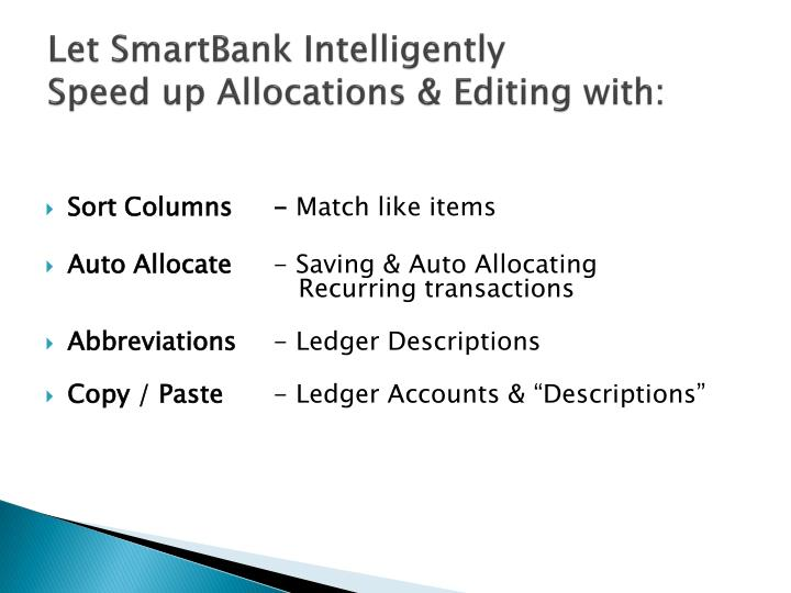 Let SmartBank Intelligently