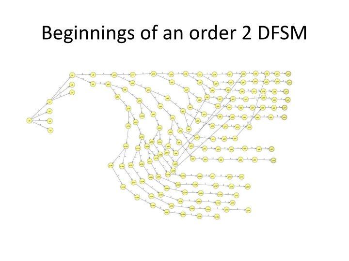 Beginnings of an order 2 DFSM