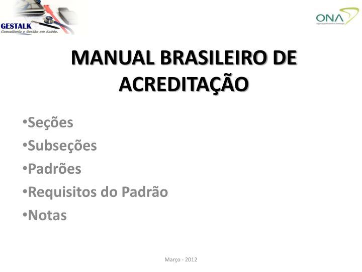 MANUAL BRASILEIRO DE