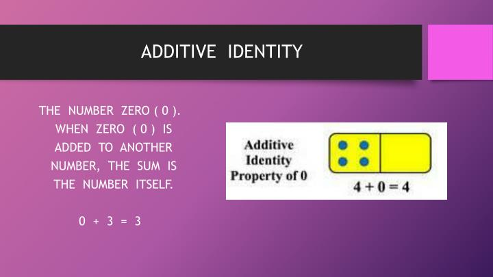 ADDITIVE  IDENTITY