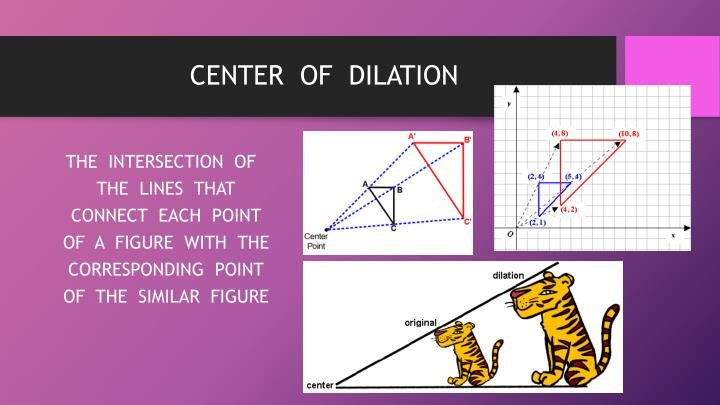 CENTER  OF  DILATION