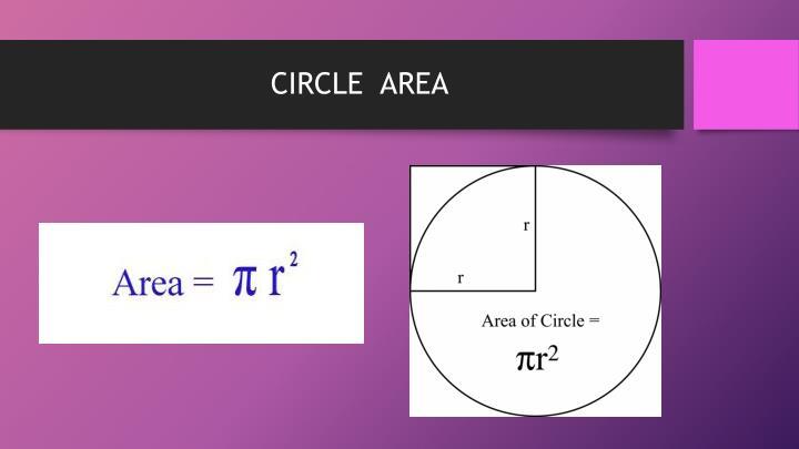 CIRCLE  AREA