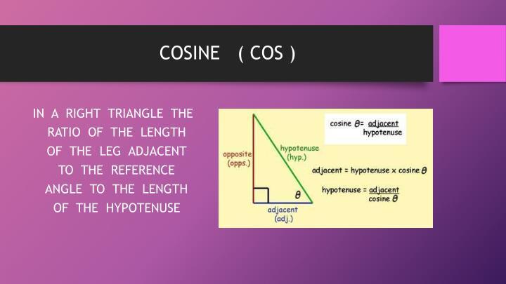 COSINE   ( COS )