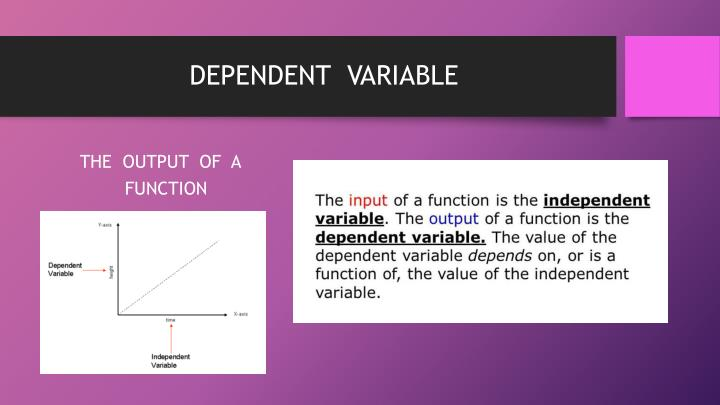 DEPENDENT  VARIABLE