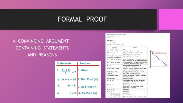 FORMAL  PROOF