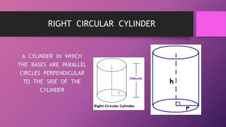 RIGHT  CIRCULAR  CYLINDER