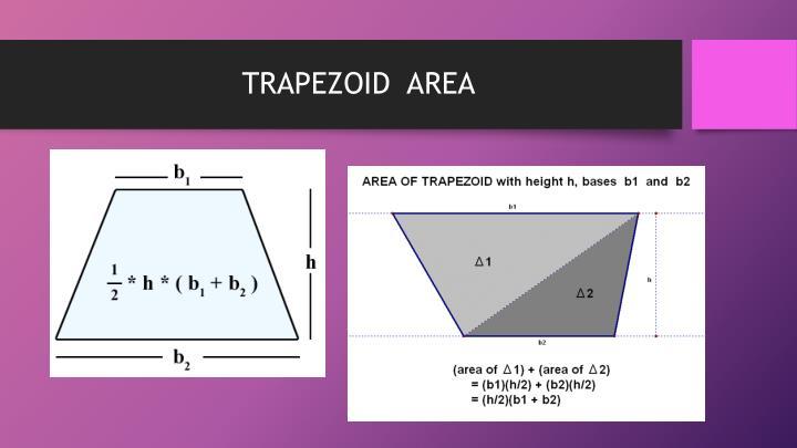 TRAPEZOID  AREA