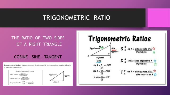 TRIGONOMETRIC  RATIO