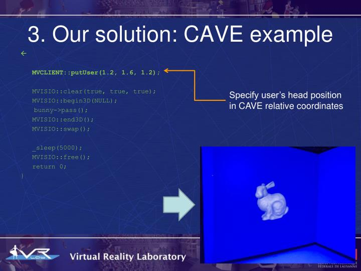 3. Our solution: CAVE example