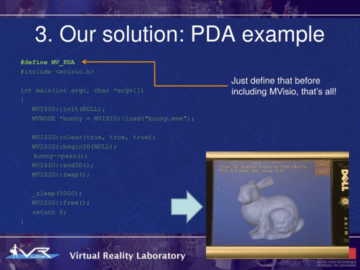 3. Our solution: PDA example