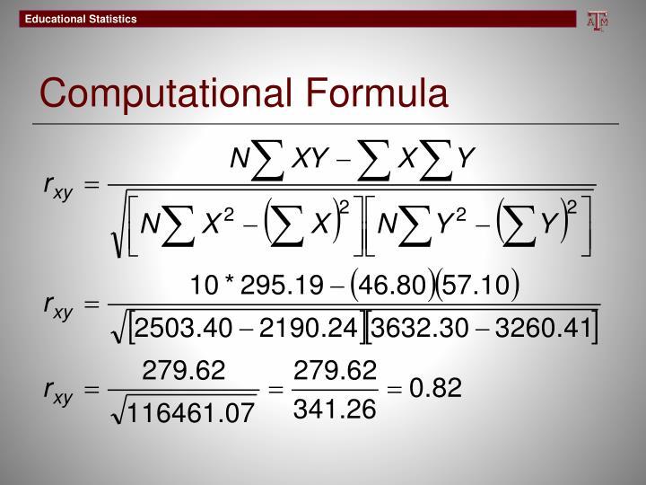 Computational Formula