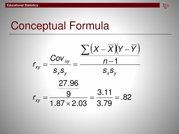 Conceptual Formula