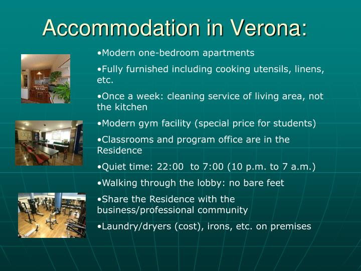 Accommodation in Verona:
