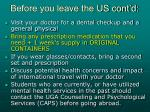 before you leave the us cont d