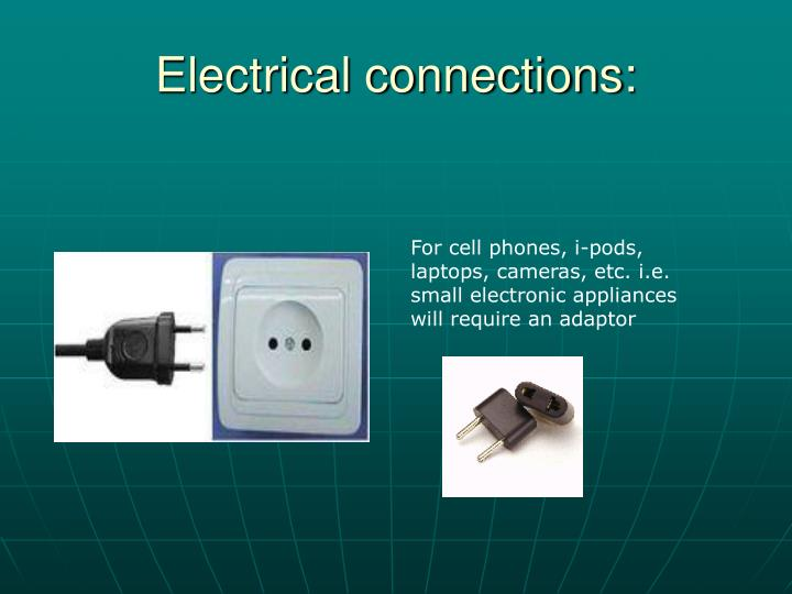 Electrical connections: