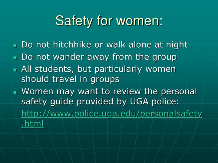 Safety for women: