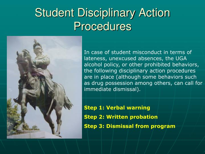 Student Disciplinary Action Procedures