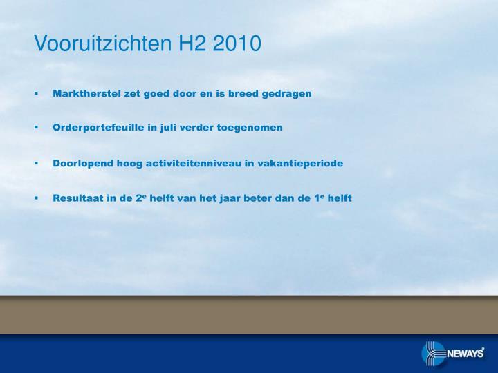 Vooruitzichten H2 2010