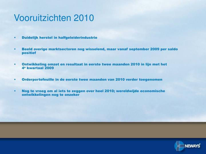 Vooruitzichten 2010