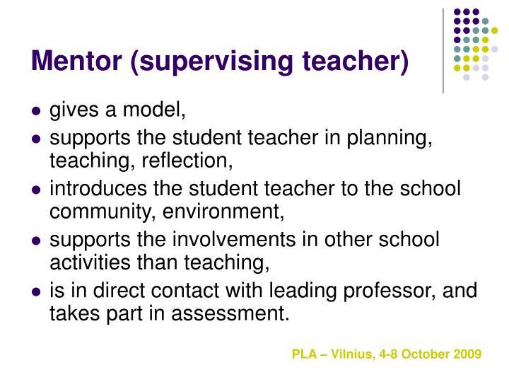 Mentor (supervising teacher)