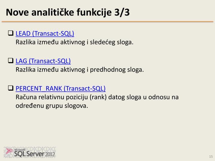 Nove analitičke funkcije