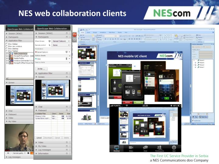 NES web collaboration clients