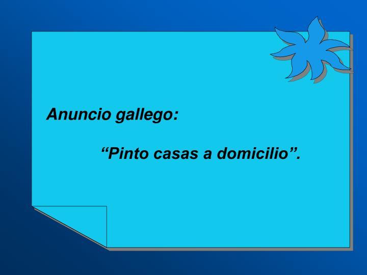 Anuncio gallego: