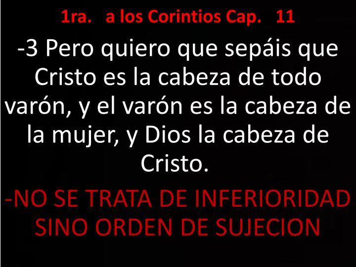 1ra.   a los Corintios Cap.   11