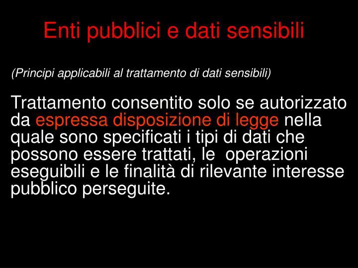 Enti pubblici e dati sensibili