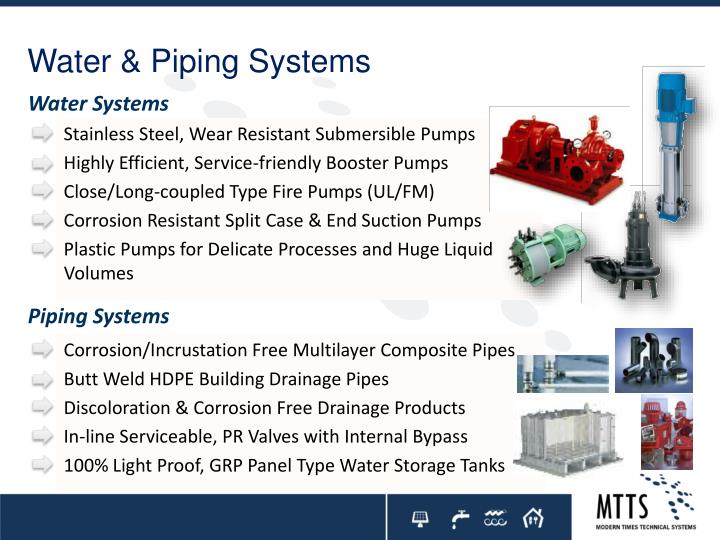 Water & Piping Systems