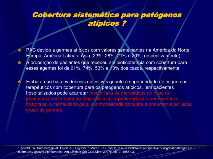 Cobertura sistemática para patógenos