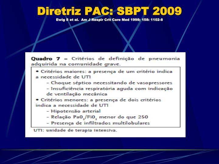 Diretriz PAC: SBPT 2009