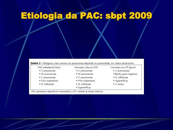 Etiologia da PAC: