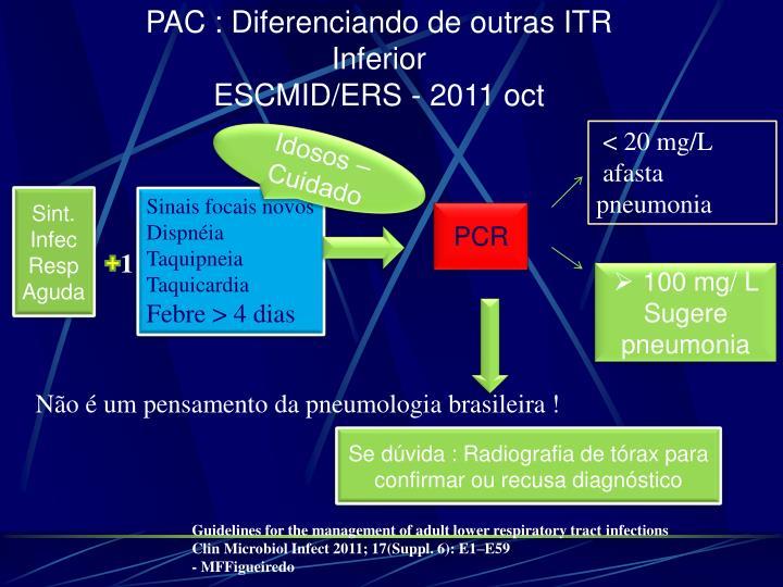 PAC : Diferenciando de outras ITR     Inferior