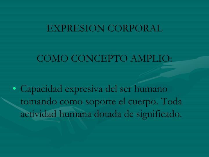 EXPRESION CORPORAL