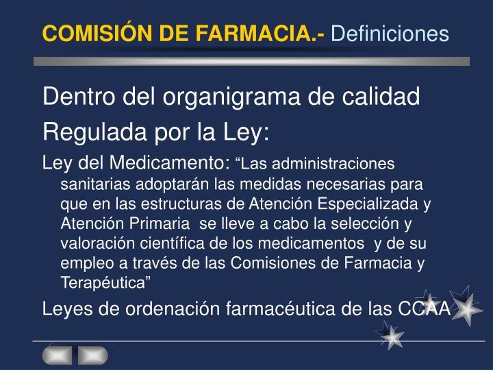 COMISIÓN DE FARMACIA.-