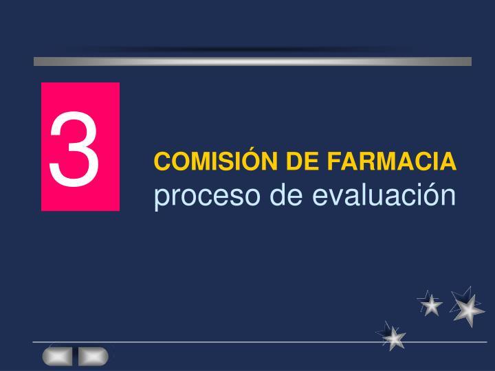 COMISIÓN DE FARMACIA