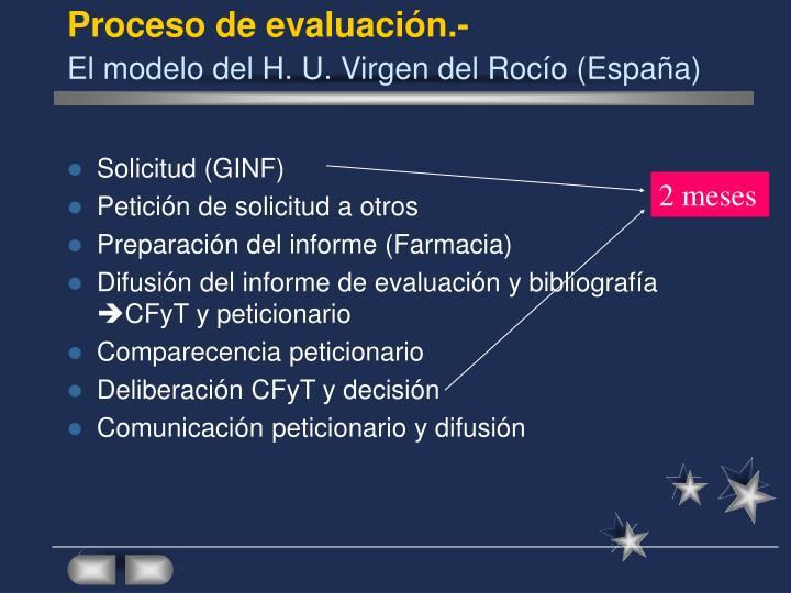 Proceso de evaluación.-