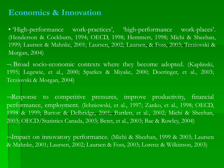 Economics & Innovation