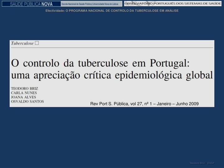Rev Port S. Pública, vol 27, nº 1 – Janeiro – Junho 2009