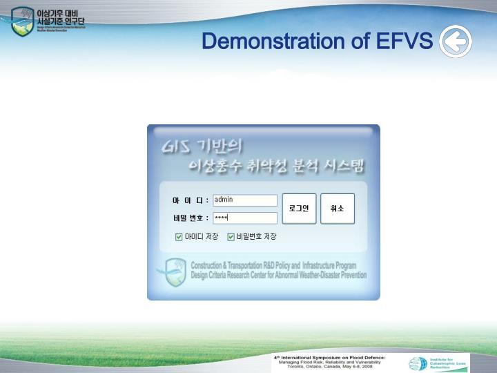Demonstration of EFVS