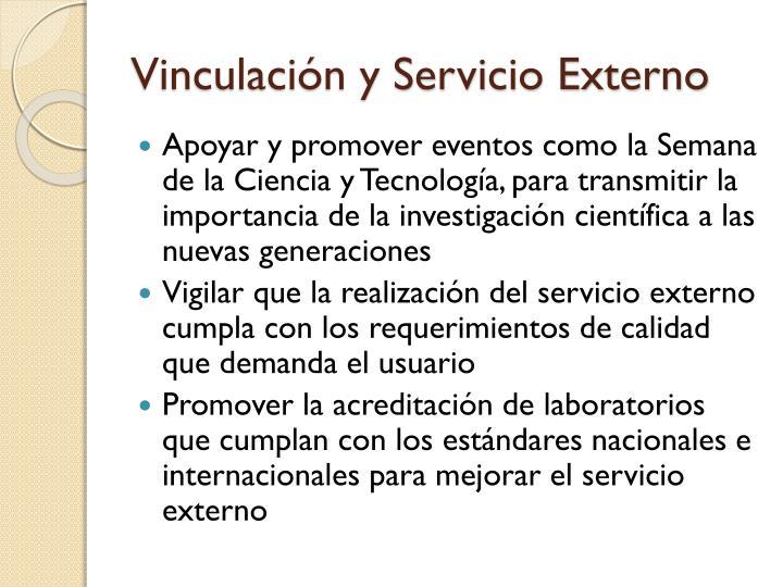 Vinculación y Servicio Externo