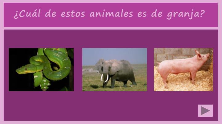 ¿Cuál de estos animales es de granja?