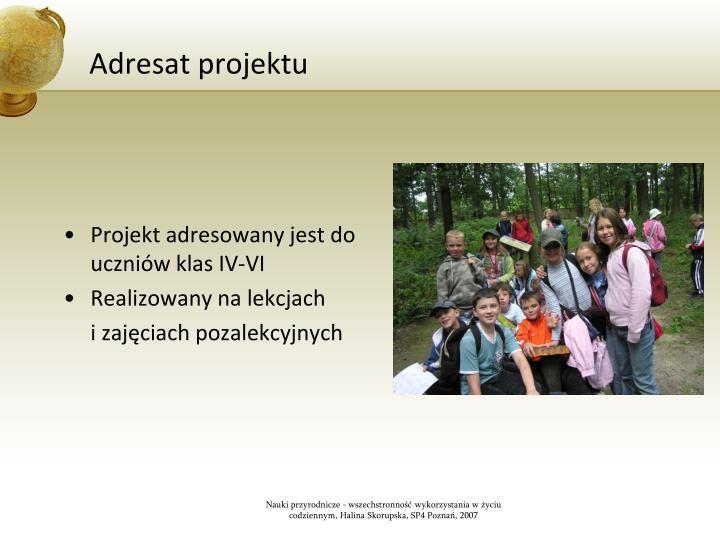 Adresat projektu