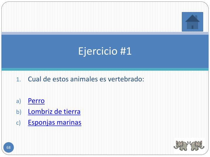 Ejercicio #1