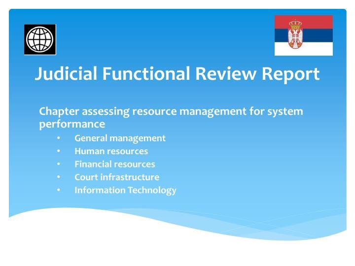 Judicial Functional Review Report