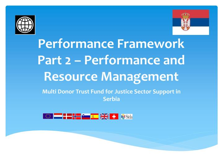 Performance framework part 2 performance and resource management