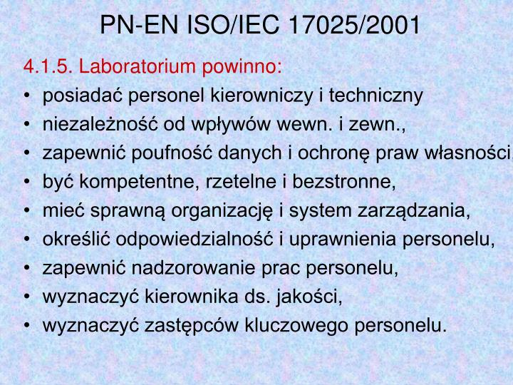 PN-EN ISO/IEC 17025/2001