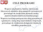 cele programu